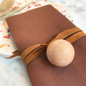 Brown Leather Wrap Wallet
