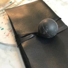Load image into Gallery viewer, Black Leather Wrap Wallet