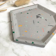 Load image into Gallery viewer, Light Grey Terrazzo Angular Tray