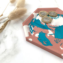 Load image into Gallery viewer, Turquoise & Brick Angular Tray #1
