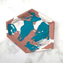 Load image into Gallery viewer, Turquoise & Brick Angular Tray #2