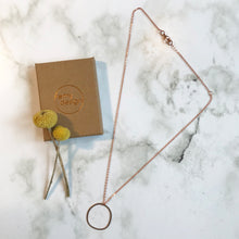 Load image into Gallery viewer, Copper Wonky Circle Necklace