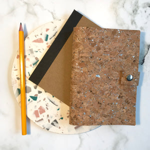 Silver Cork Notebook Cover