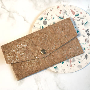 Silver Cork Slim Wallet
