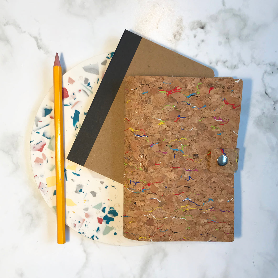 Rainbow Cork Notebook Cover