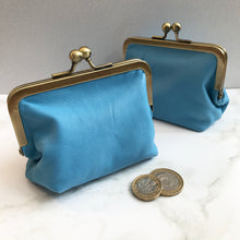 Load image into Gallery viewer, Carolina Blue Leather Card Purse
