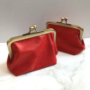 Corail Leather Card Purse