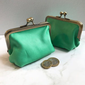 Absinthe Green Leather Card Purse