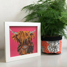 Load image into Gallery viewer, Mini Framed Highland Cow