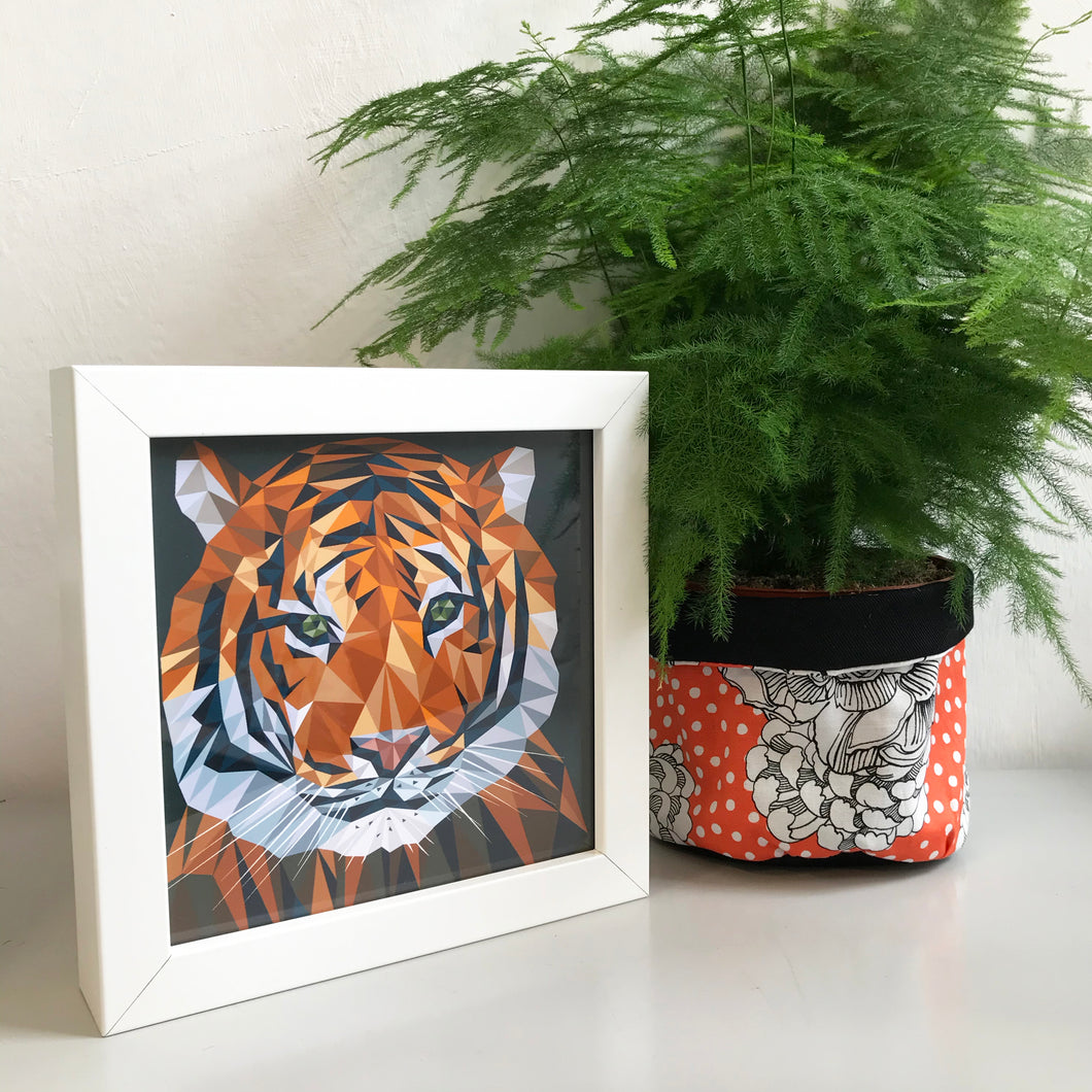 Mini Framed Tiger
