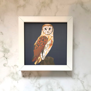 Mini Framed Owl