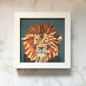 Mini Framed Lion