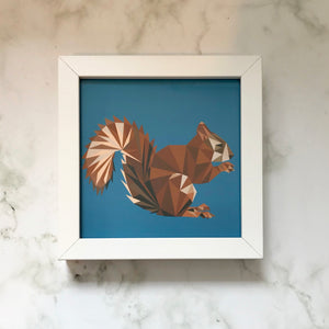 Mini Framed Squirrel