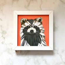 Load image into Gallery viewer, Mini Framed Raccoon