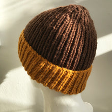 Load image into Gallery viewer, Knitted Hat in Dark Brown