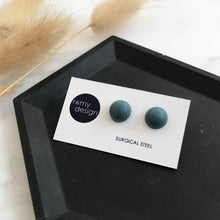 Load image into Gallery viewer, Denim Dome Earring Studs