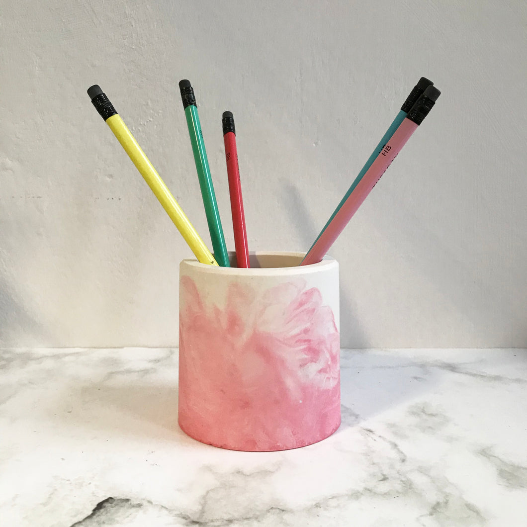 Pink Jesmonite Pot
