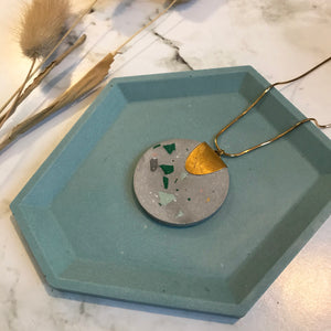 Light Grey Terrazzo Jesmonite Pendant