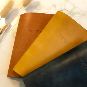 Yellow Leather Notebook Cover