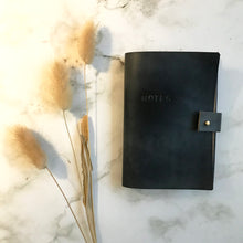 Load image into Gallery viewer, Navy Leather Notebook Cover