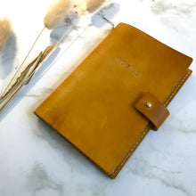 Load image into Gallery viewer, Yellow Leather Notebook Cover
