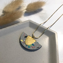 Load image into Gallery viewer, Grey Terrazzo Jesmonite Half Pendant
