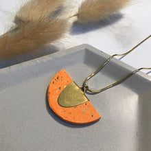 Load image into Gallery viewer, Orange Terrazzo Jesmonite Half Pendant