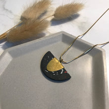 Load image into Gallery viewer, Black Terrazzo Jesmonite Half Pendant #1