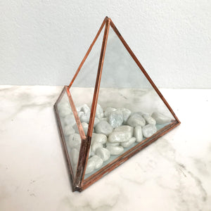 Mini Pyramid Glass Planter