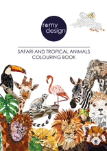 Load image into Gallery viewer, Safari & Tropical Animals Colouring Book