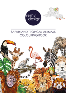 Safari & Tropical Animals Colouring Book
