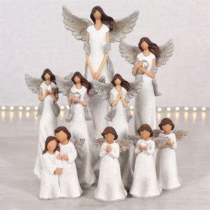 'Peace Pray Love' Glitter Angels