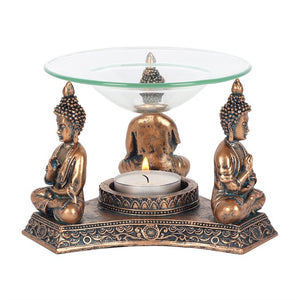 Bronze Buddha Oil Burner