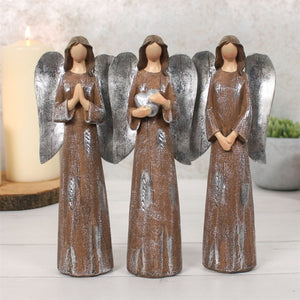 'Peace Pray Love' Trio of Angels