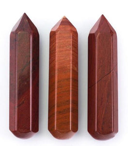 Red Jasper Crystal Massage Wand (9cm)