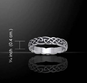 Celtic Design Sterling Silver Ring