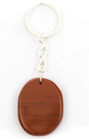 Crystal Key Ring - Red Jasper