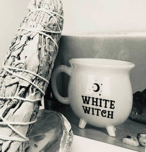 White Witch Mug & White Sage Smudge Stick Gift Set
