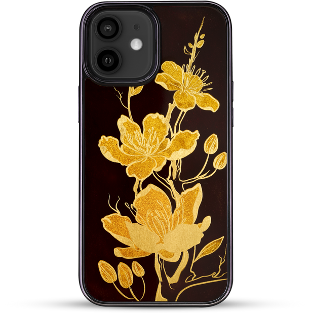 iPhone Case - Golden Apricot Blossom