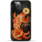 iPhone Case - Soaring Floral Carp