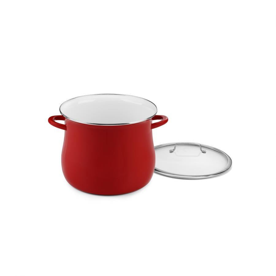 16QT STOCKPOT RED