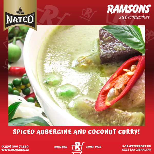 NATCO'S SPICED AUBERGINE AND COCONUT CURRY!