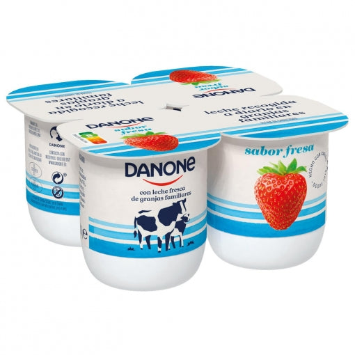 Danone - Strawberry Yoghurt - 4 x 125g