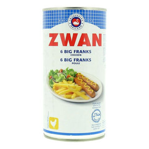 Zwan -  Chicken big franks - Halal - 6s