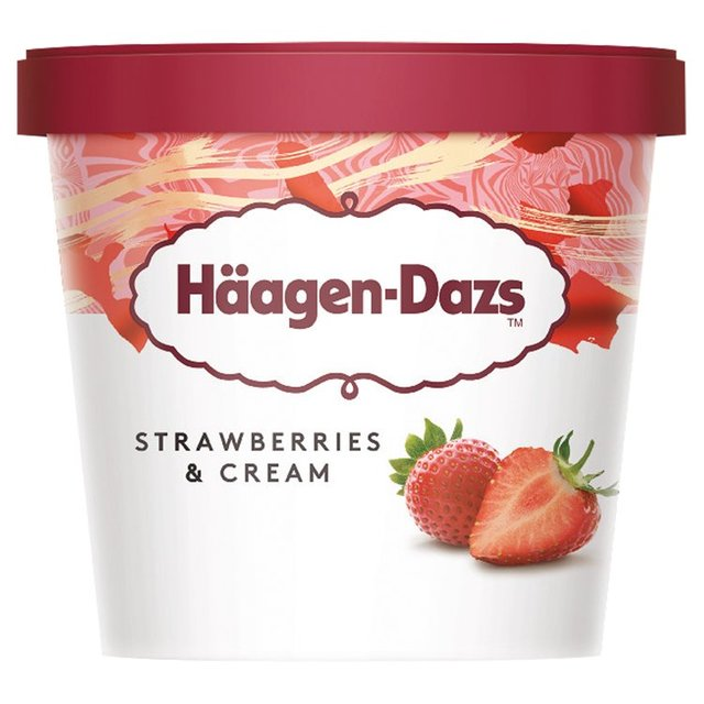 Haagen Dazs - Strawberries & Cream - 95ml