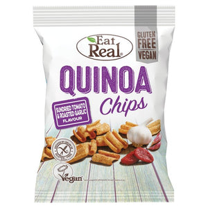 Eat Real - Quinoa Chips - Sun Dried Tomato & Garlic - 30g