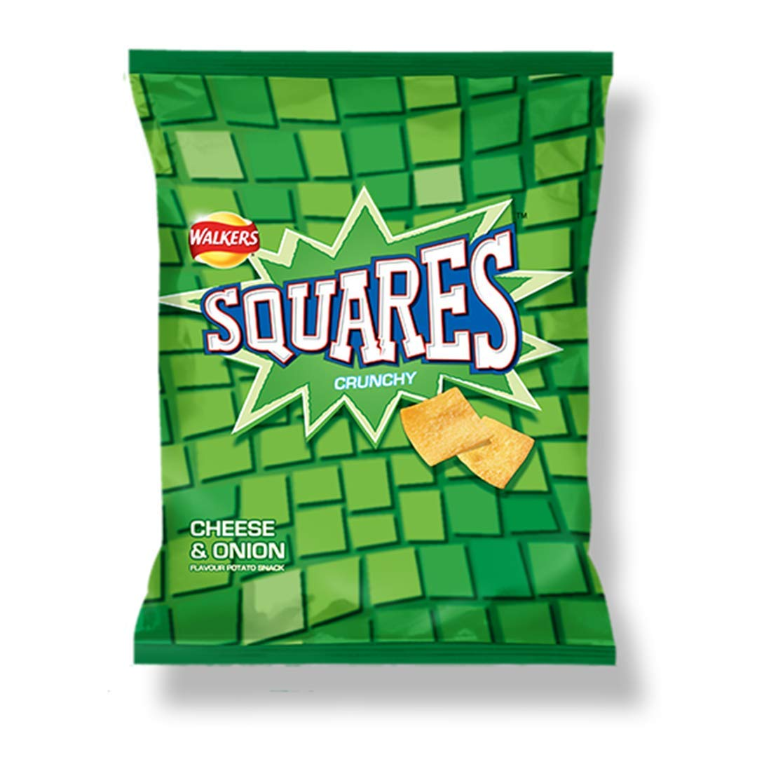 Walkers - Squares - Cheese & Onion - 27.5g