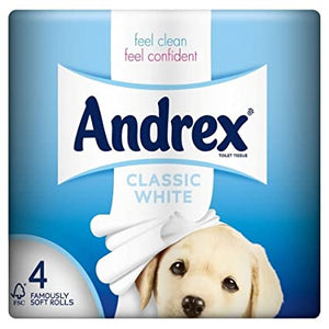 Andrex - Toilet Paper - Classic Clean - 4 Pack