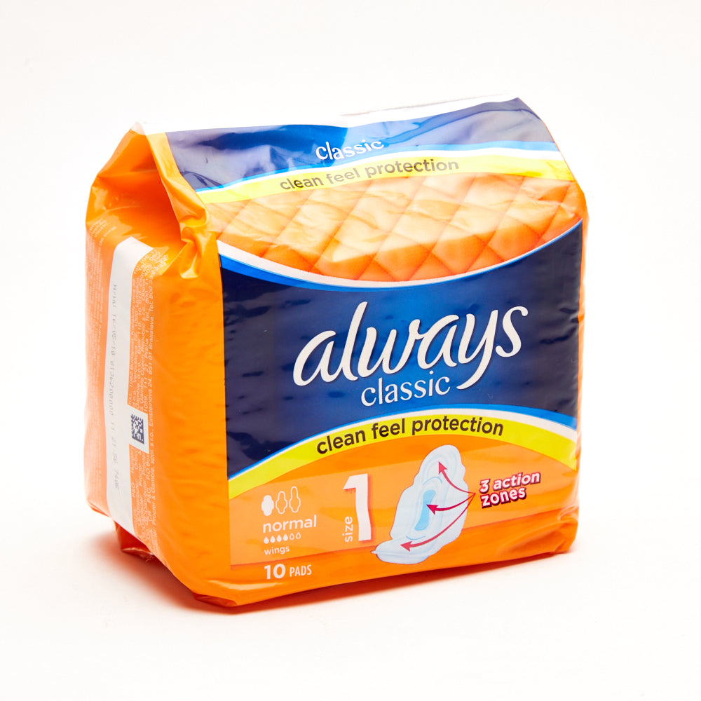 Always - pads - Size 1 w/wings - 10pcs