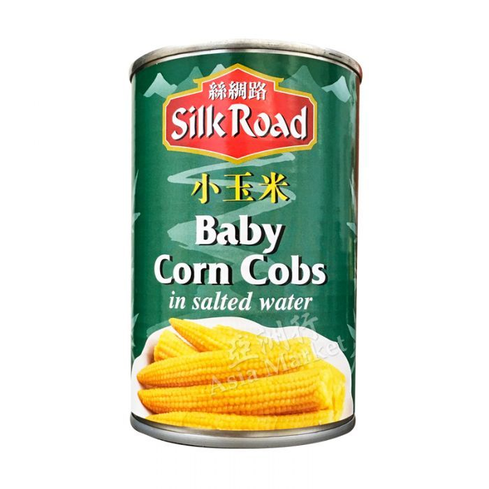 Silk road - Baby corn cobs - in salted water - 410g